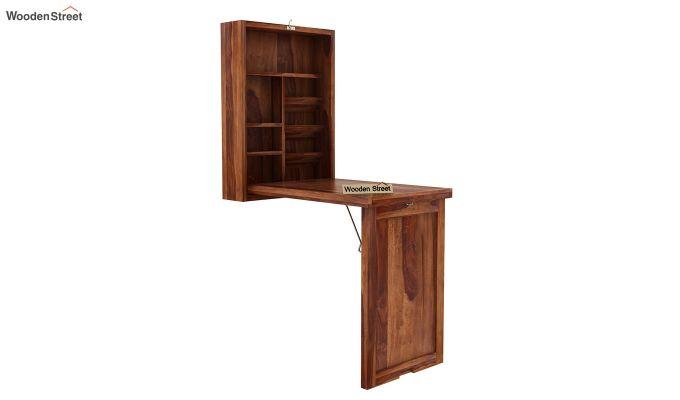 Holger Foldable Wall Mounted Table (Teak Finish)-3