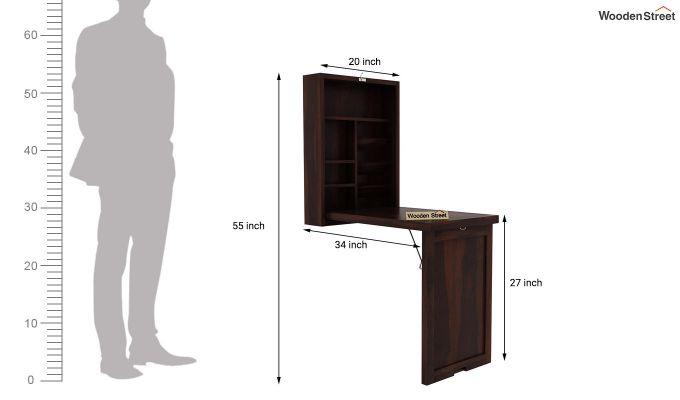Holger Foldable Wall Mounted Table (Walnut Finish)-5