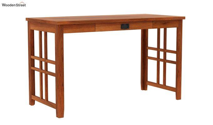 Horsley Computer Table With Storage (Honey Finish)-7