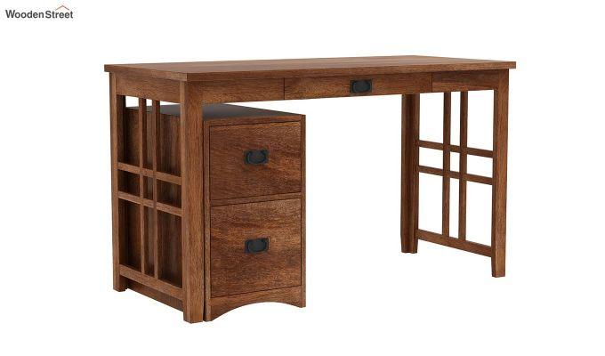 Horsley Computer Table With Storage (Teak Finish)-2