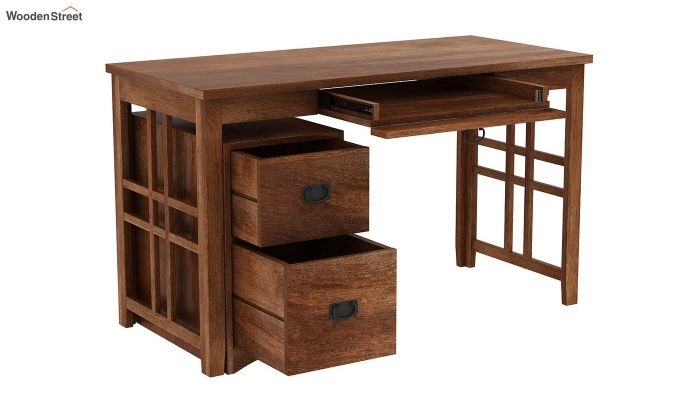 Horsley Computer Table With Storage (Teak Finish)-3
