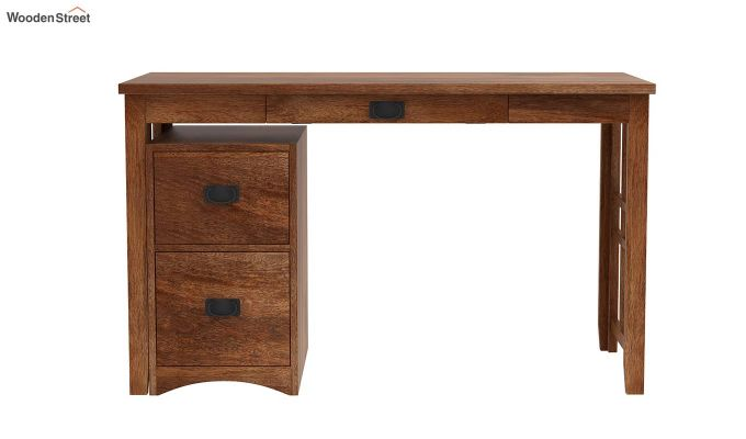 Horsley Computer Table With Storage (Teak Finish)-4