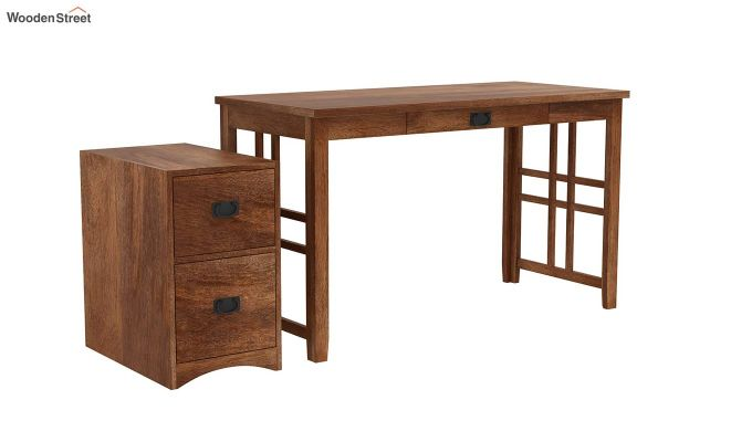 Horsley Computer Table With Storage (Teak Finish)-5