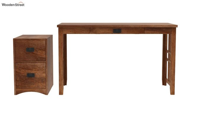 Horsley Computer Table With Storage (Teak Finish)-6