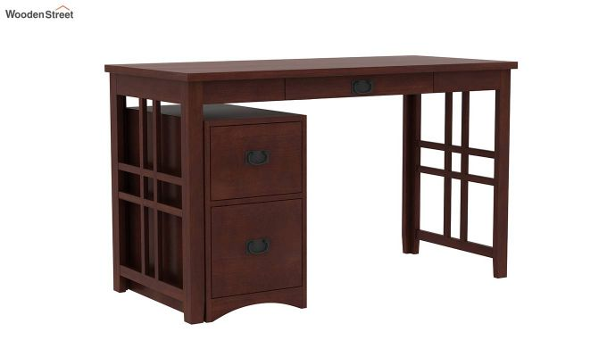 Horsley Computer Table With Storage (Walnut Finish)-2
