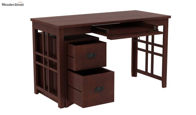 Horsley Computer Table With Storage (Walnut Finish)-3