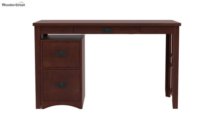 Horsley Computer Table With Storage (Walnut Finish)-4