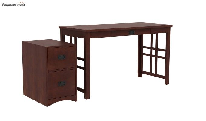 Horsley Computer Table With Storage (Walnut Finish)-5