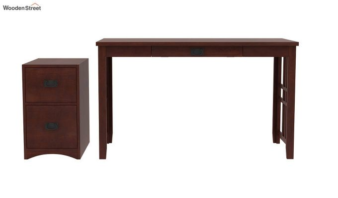 Horsley Computer Table With Storage (Walnut Finish)-6