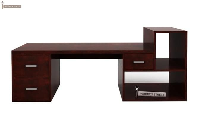 Ineista Low Height Study Table (Mahogany Finish)-4