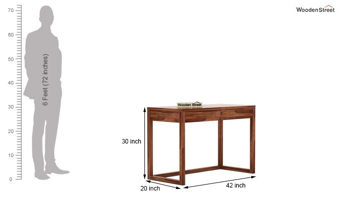 James Study Table (Teak Finish)-5