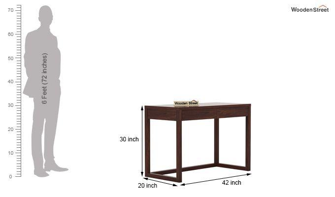 James Study Table (Walnut Finish)-5