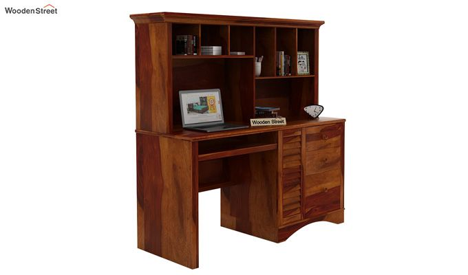 Jerold Study Table (Honey Finish)-1