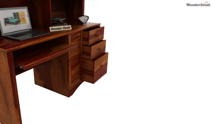 Jerold Study Table (Honey Finish)-4