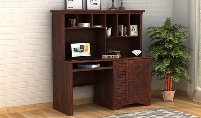 Jerold Study Table (Walnut Finish)-1