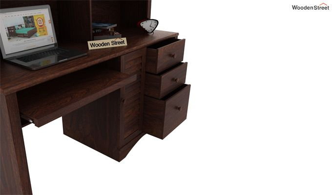 Jerold Study Table (Walnut Finish)-5