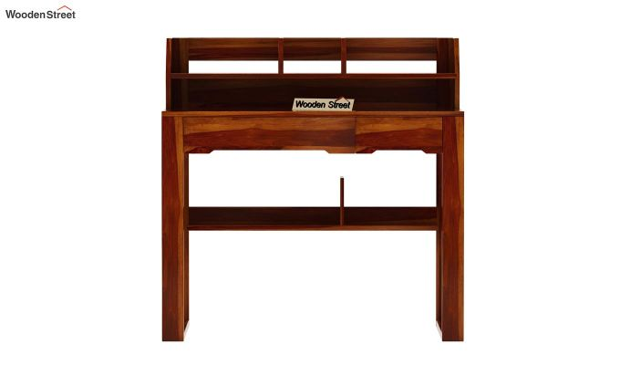 Landon Study Table With Storage (Honey Finish)-8