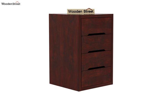Landon Study Table With Storage (Mahogany Finish)-8