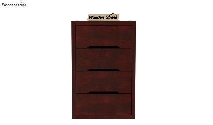 Landon Study Table With Storage (Mahogany Finish)-9