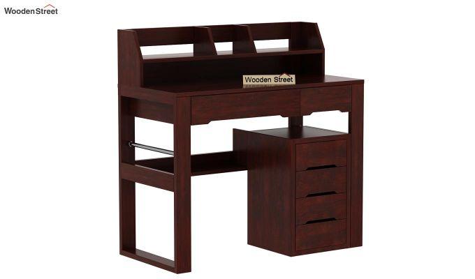 Landon Study Table With Storage (Mahogany Finish)-4