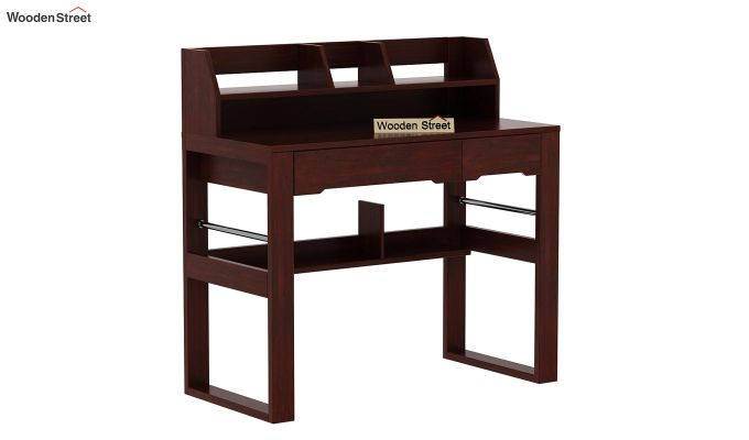 Landon Study Table With Storage (Mahogany Finish)-6