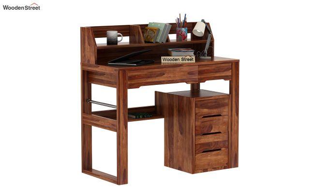 Landon Study Table With Storage (Teak Finish)-1