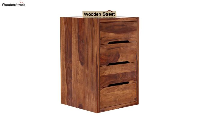 Landon Study Table With Storage (Teak Finish)-8