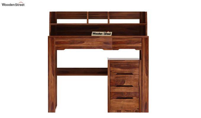 Landon Study Table With Storage (Teak Finish)-5