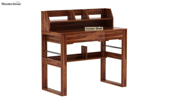 Landon Study Table With Storage (Teak Finish)-6