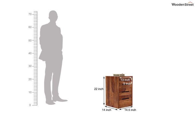 Landon Study Table With Storage (Teak Finish)-11