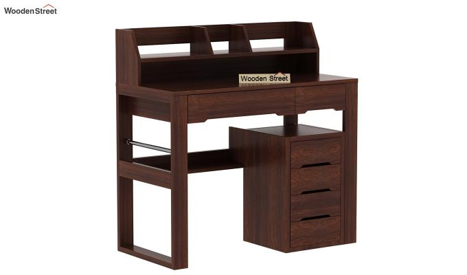 Landon Study Table With Storage (Walnut Finish)-4