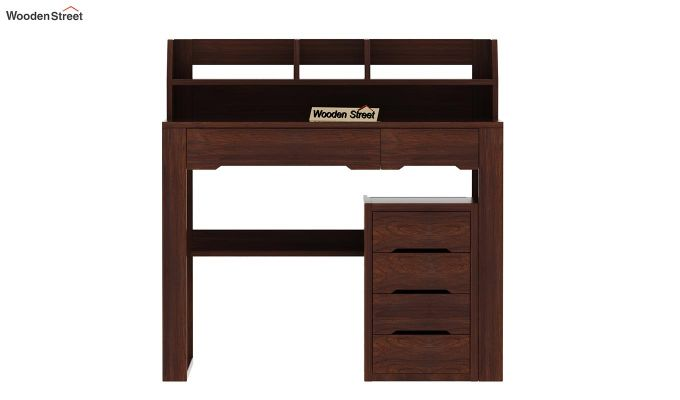 Landon Study Table With Storage (Walnut Finish)-5