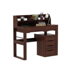 Landon Study Table With Storage (Walnut Finish)