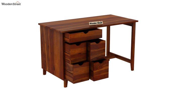 Lewis Study Table (Honey Finish)-5