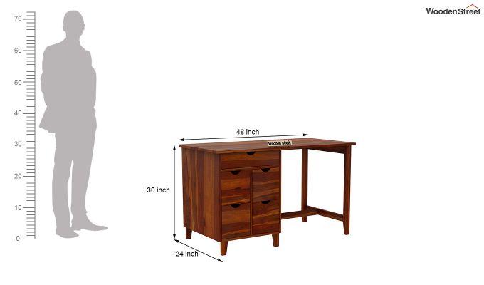 Lewis Study Table (Honey Finish)-6