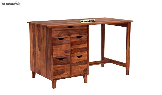 Lewis Study Table (Honey Finish)-2