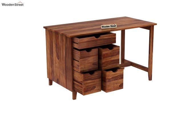 Lewis Study Table (Teak Finish)-5
