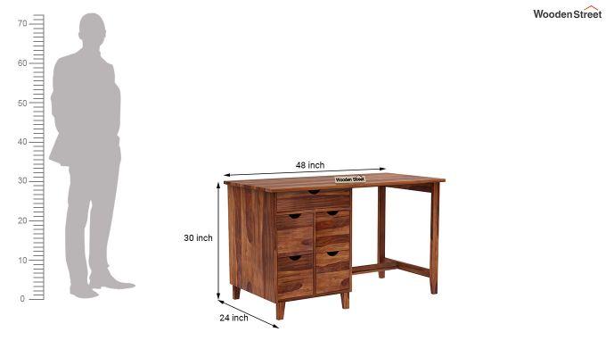 Lewis Study Table (Teak Finish)-6