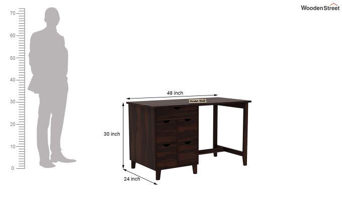 Lewis Study Table (Walnut Finish)-6