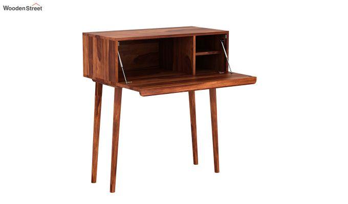 Lynton Storage Work Desk (Honey Finish)-4