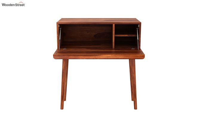Lynton Storage Work Desk (Honey Finish)-6