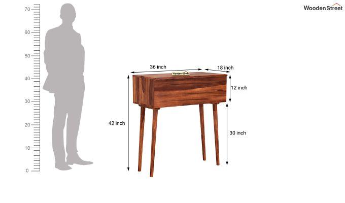Lynton Storage Work Desk (Honey Finish)-7
