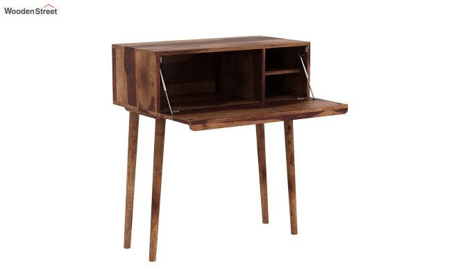 Lynton Storage Work Desk (Teak Finish)-4