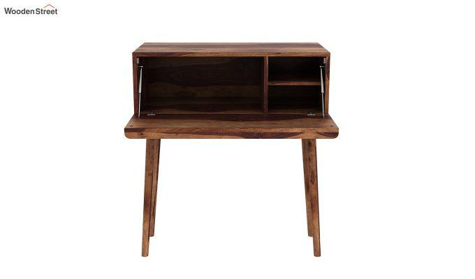 Lynton Storage Work Desk (Teak Finish)-6