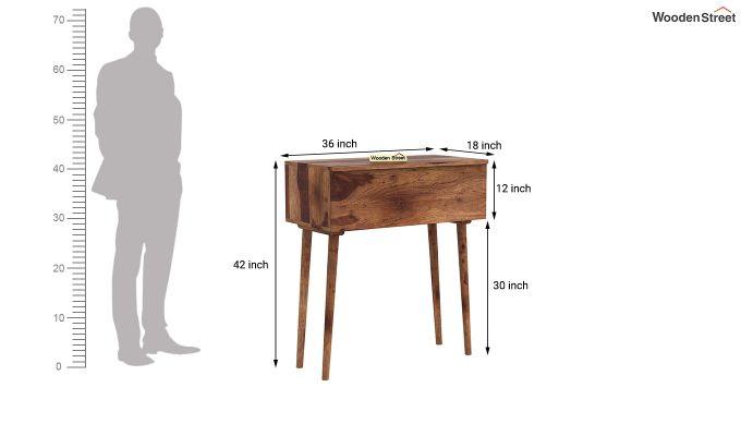 Lynton Storage Work Desk (Teak Finish)-7