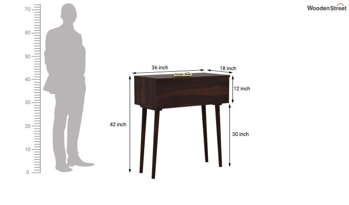 Lynton Storage Work Desk (Walnut Finish)-7