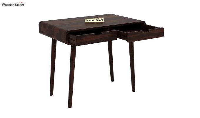 Lynton Study Table with Curved Edges (Walnut Finish)-4