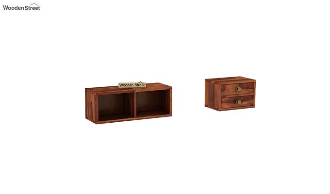 Lynton Study Table with Table-Top Storage (Honey Finish)-7