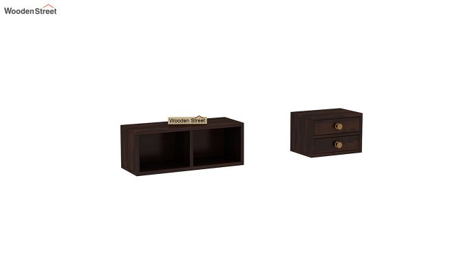 Lynton Study Table with Table-Top Storage (Walnut Finish)-7