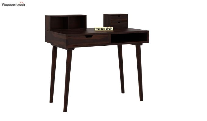 Lynton Study Table with Table-Top Storage (Walnut Finish)-2